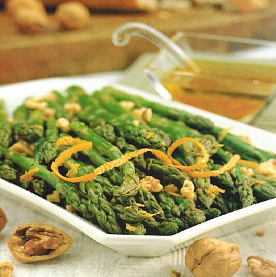 Armenian Asparagus with Orange Walnut Vinaigrette Appetizer