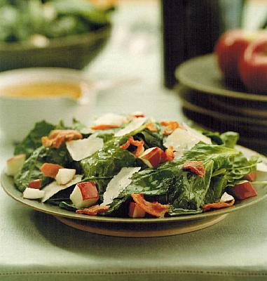 Canadian Spinach Salad With Warm Bacon Vinaigrette Appetizer