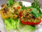 American Spring Couscous Stuffed Bell Peppers Appetizer