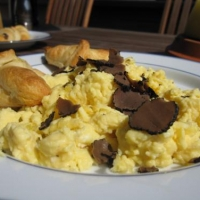 German Scrambled Eggs With Truffles Breakfast