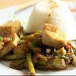 American Fried Tofu Green Asparagus to the Soya Sauce Dinner
