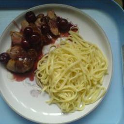 American Duck Breast with Cherries and Mint BBQ Grill