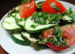 American Broiled Zucchini With Herbs Dinner