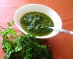 American Watercress No Nut or Cheese Pesto Appetizer
