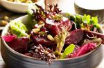 Australian Roasted Beetroot With Mixed Leaves Pistachios and Mandarin Vinaigrette Recipe Appetizer