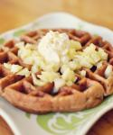 British Carrot Cake Waffles Breakfast