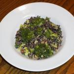 Australian Autumn Wild Rice Walnut and Broccoli Salad Drink