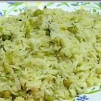Indian Ghee Rice with Green Peas Dinner