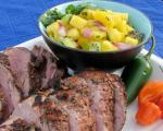 Australian Vs Grilled Jerk Pork Tenderloin and Pineapple Mangokiwi Salsa Dinner