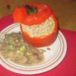 American Stuffed Pepper with Mushroom Sauce Dessert