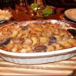 Canadian Gratin of Potatoes in Blue Appetizer