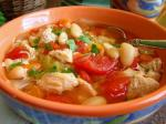 American Slow Cooker Chicken Tomato and White Bean Soup Dinner