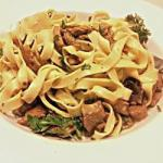 Italian Tagliatelle with Mushrooms Mushrooms Appetizer