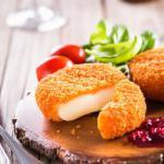 American Deep Fried Camembert with Cranberry Sauce Dessert