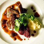 Canadian Slow Braised Beef Cheeks Served with Bacon Clapshot Puree and Red Wine Jus Appetizer