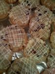 American Bells  Holly Lattice Cookies Cranberry White Chocolate Orange  Ginger Dessert