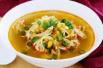 American Asian Chicken Corn And Noodle Soup Recipe Appetizer
