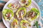 American Coconut Poached Chicken On Lettuce Cups Recipe Dinner