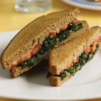 Romanian Healthy Green Grilled Cheese Appetizer