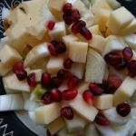 American Salad with Apples Cheese Fennel and Pomegranate Appetizer