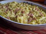 American Spam and Noodle Casserole Dinner