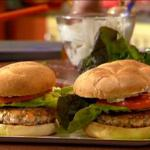 American Salmon Burgers with Ginger Mustard Mayonnaise BBQ Grill