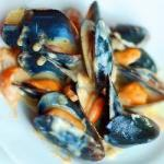 American Mussels with Saffron Sauce Dinner