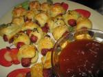 British Pigs in a Blanket With Curried ketchup Appetizer