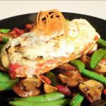 American Stuffed Chicken W Roasted Red Peppers and Herbed Goat Cheese BBQ Grill