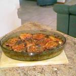 American Oven Dish with Beef and Veal Eggplant and Bulgur Appetizer
