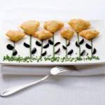 Spanish Crispy Cones with Delicate Mieskiem and Spanish Olives Appetizer