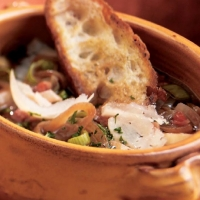 Polish Onion Soup with Grilled Bread Soup