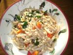 American Fresh Tomato and Basil Pasta With Toasted Pine Nuts Dinner