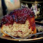 British Toppled Plum Cake Dessert