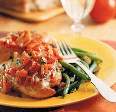Australian auteed Chicken With Shallots And White Wine Appetizer