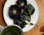 Italian Garlicspiked Mushrooms with Green Sauce Appetizer