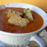 American Cold Soup of Tomato and Romero Appetizer