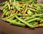 American Spicy Stirfried Green Beans and Scallions Appetizer