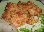 American Shrimp and Orzo With Cherry Tomatoes and Parmesan Cheese Dinner