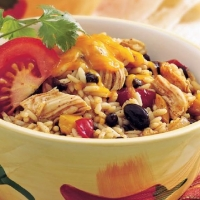 Chadian Rice Chicken with Black Beans Dinner