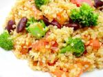 American Bulgur Pilaf With Broccoli and Peppers Dinner