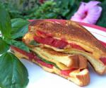 American Fresh Tomato Basil Grilled Cheese Sandwich Appetizer