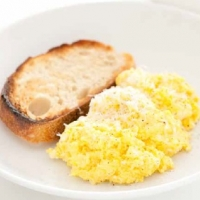 Canadian scrambled eggs with ricotta Breakfast
