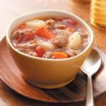 Canadian Turnip Sausage Stew Appetizer