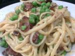 American Authentic and Easy Pasta Carbonara Dinner