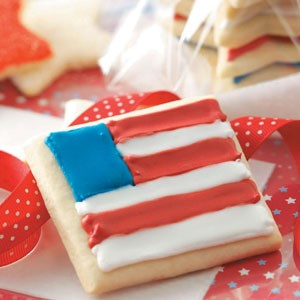 Canadian Sugar Star and Flag Cookies Dessert