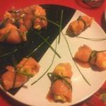 Russian Rolls of Salmon Stuffed with Russian Salad Appetizer