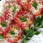 American Tomatoes Baked in the Oven Appetizer