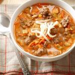 Canadian Stuffed Sweet Pepper Soup Dinner
