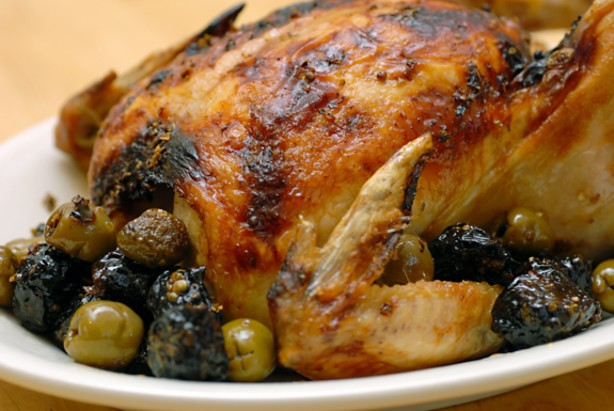 American Roasted Chicken With Olives and Prunes chicken Marbella Dinner